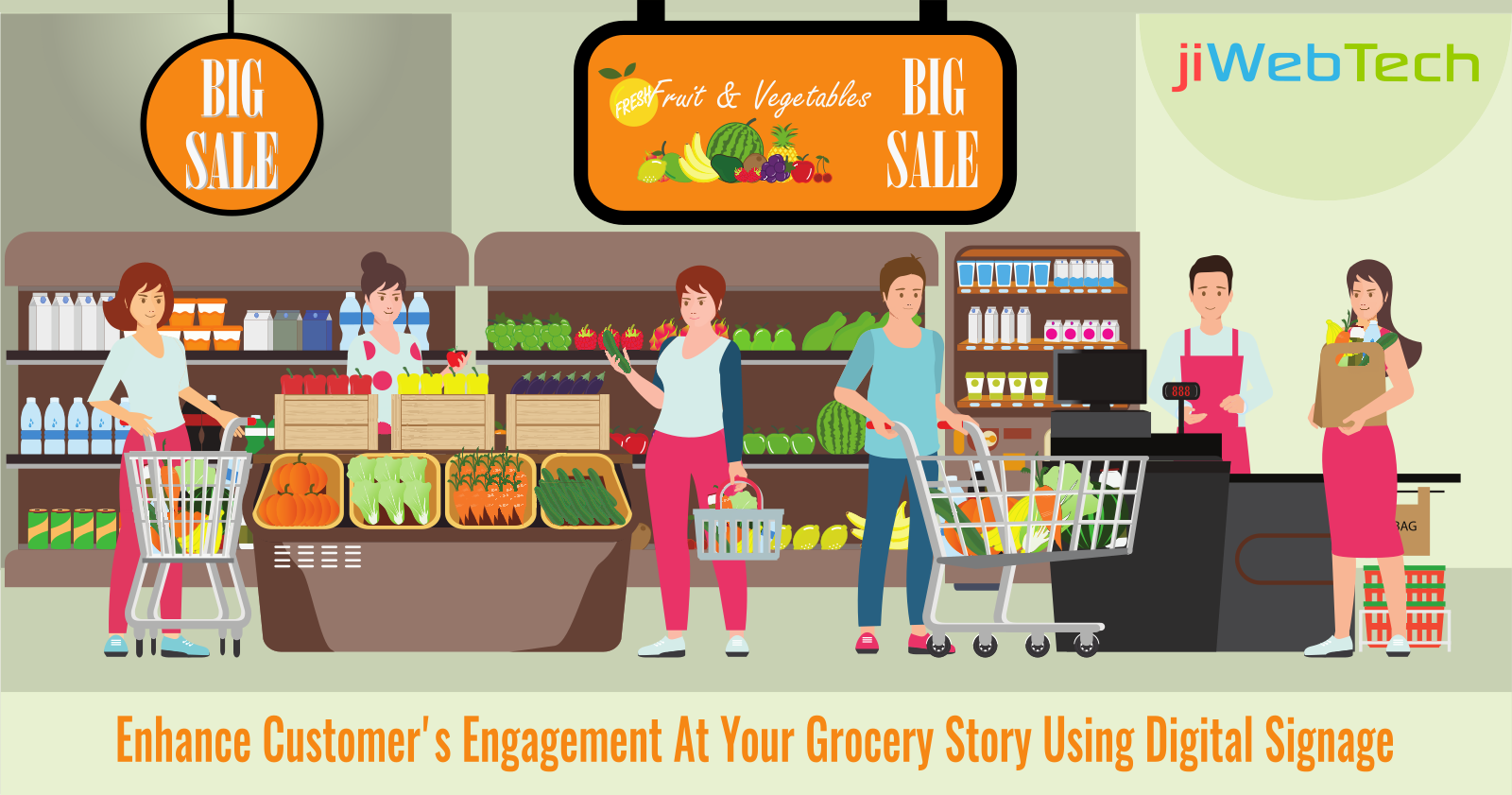 Enhance Customer's Engagement At Your Grocery Store Using Digital Signage