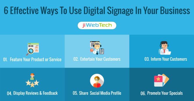 6 Effective Ways To Use Digital Signage In Your Business